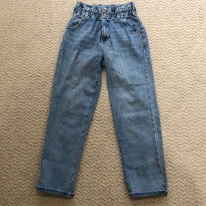 Pacsun paper bag mom jeans!